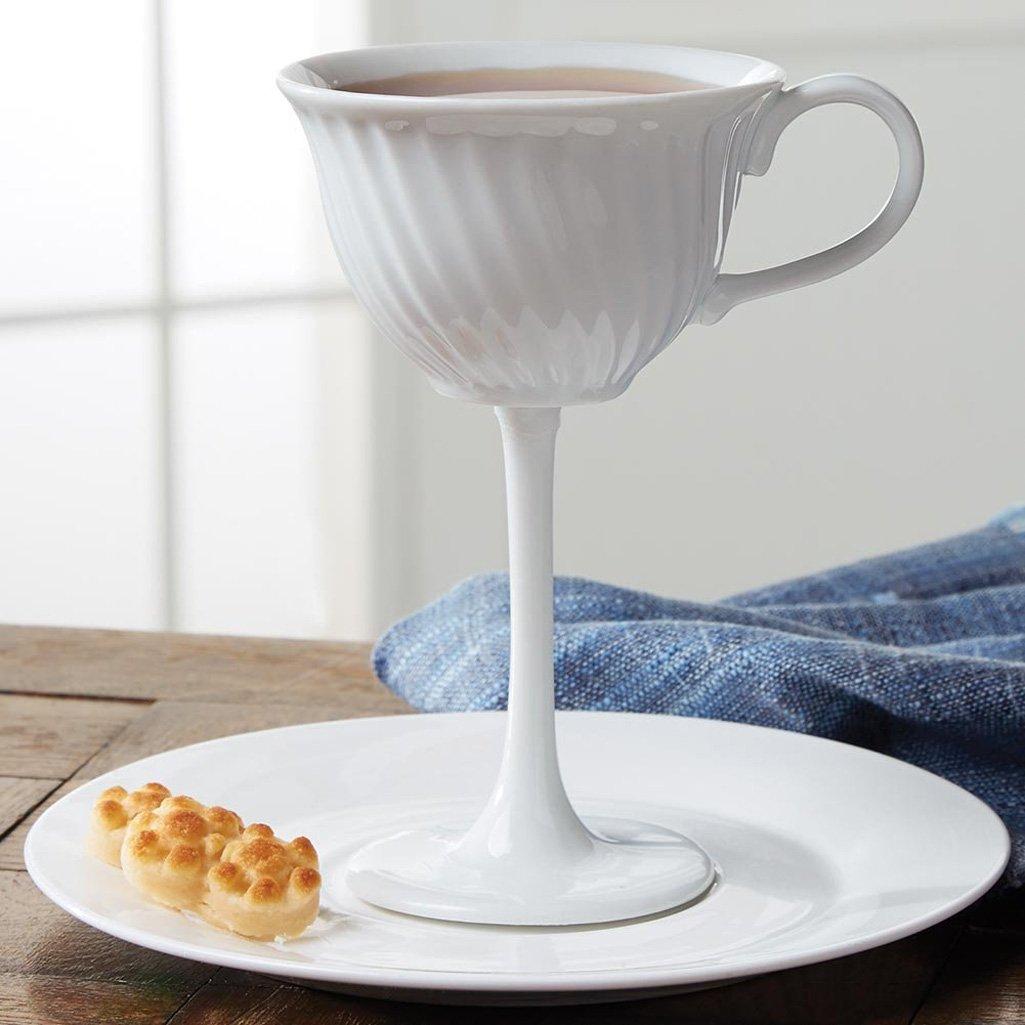 High Tea  Oversized Ceramic Tea Cup Stemware