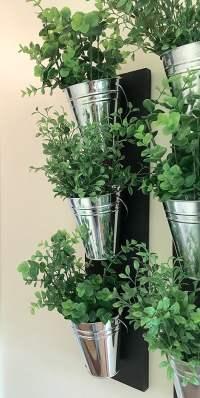 Vertical Indoor Wall Planter With Galvanized Steel Pots ...