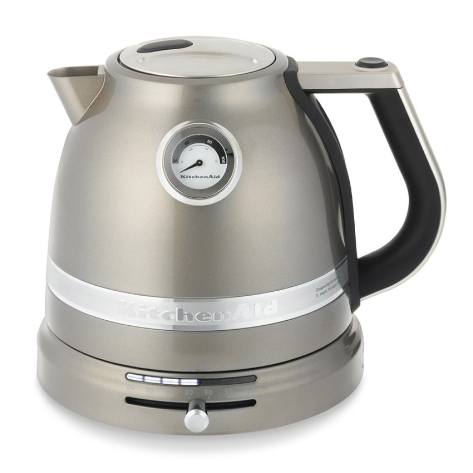 silver kitchen aid island with range kitchenaid pro line electric tea kettle - the green head