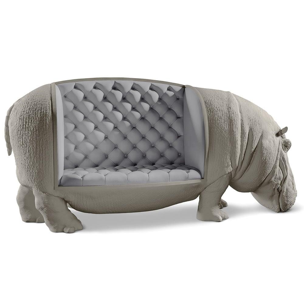 Lifesize Hippopotamus Sofa  Statue