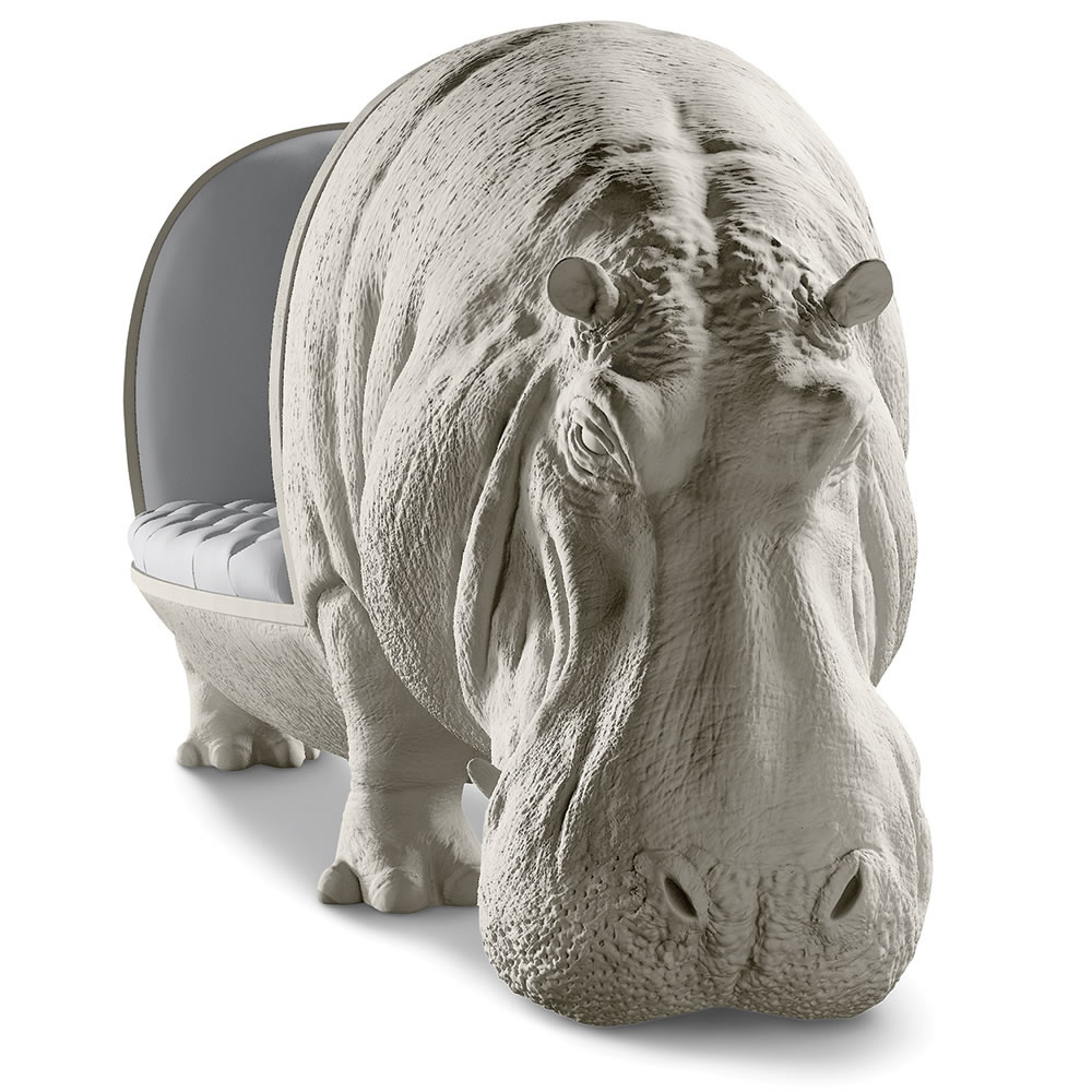 tufted sofa leather fc boston vs ac connecticut sofascore lifesize hippopotamus / statue