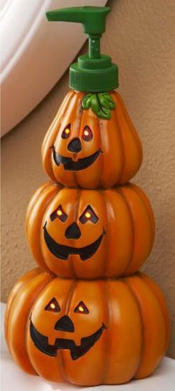Lighted Pumpkin Soap Dispenser