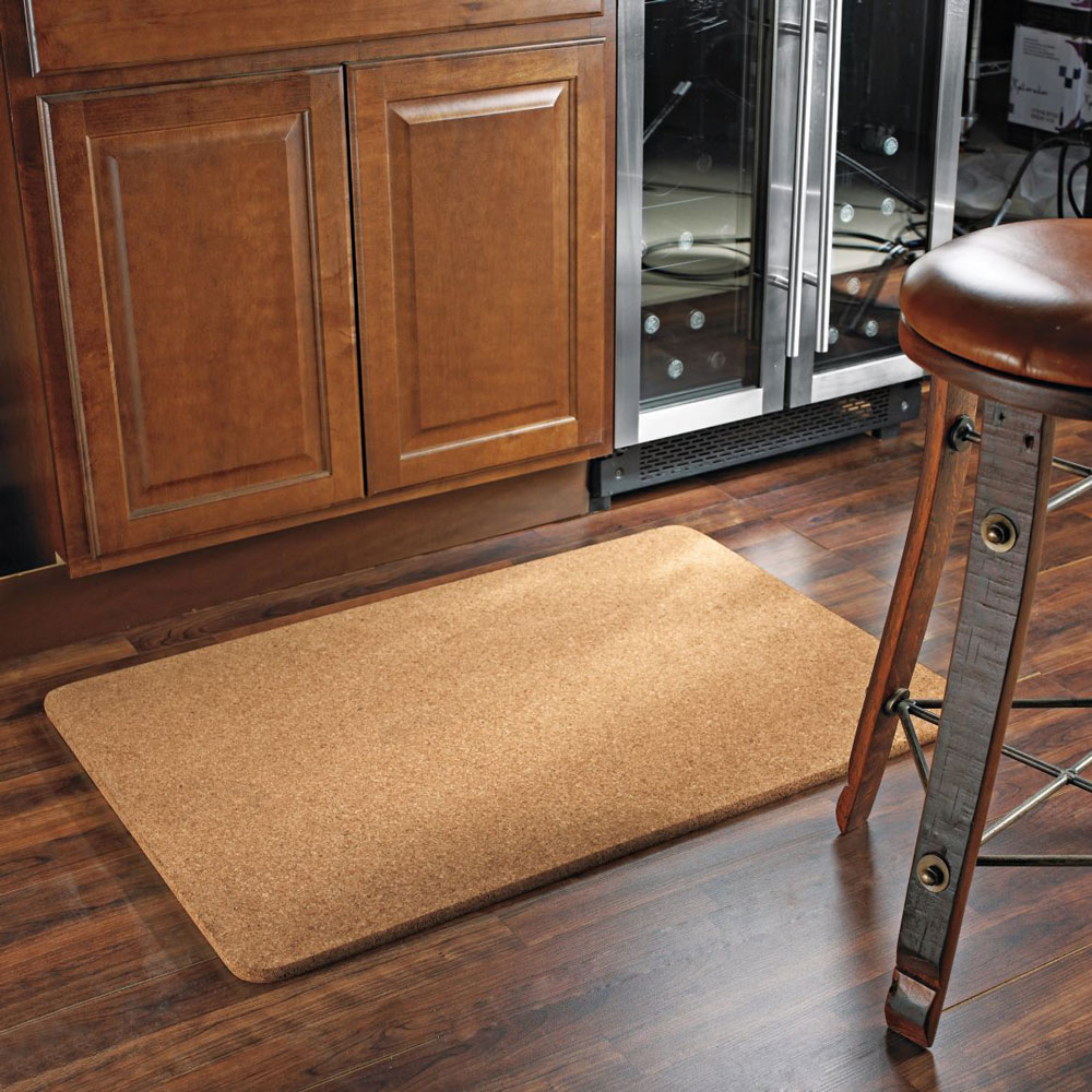 kitchen sink stoppers chairs wood natural cork floor mat