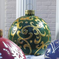Massive Outdoor Lighted Christmas Ornaments | The Green Head