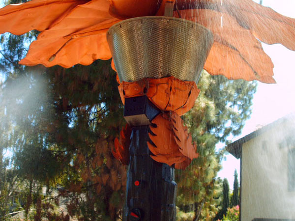 Palm Tree Patio Heater and Mister  Year Round Comfort
