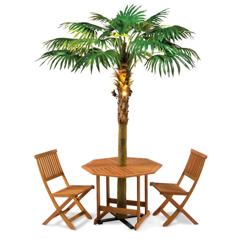 lighted palm tree umbrella
