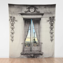 Hanging Chair Urban Outfitters Covers Vancouver Paris Window View Tapestry - The Green Head