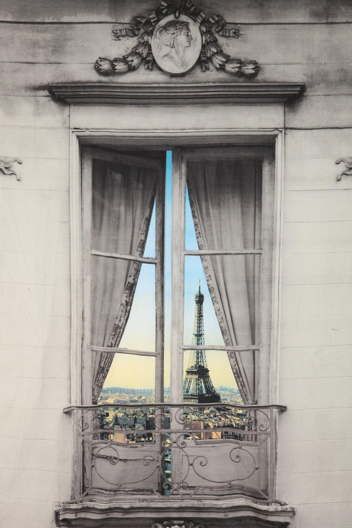 Paris Window View Tapestry