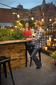 Plant-bar - Wooden Outdoor Bar And Planter Green Head