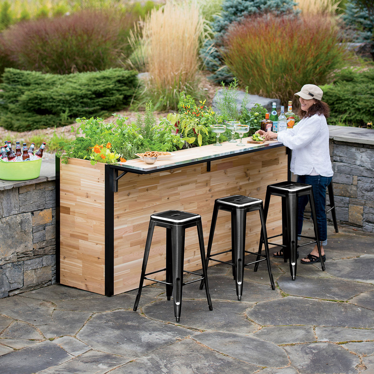 PlantABar  Wooden Outdoor Bar And Planter  The Green Head