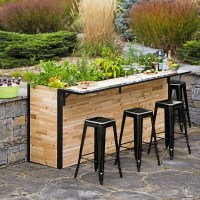 Plant-A-Bar - Wooden Outdoor Bar And Planter - The Green Head