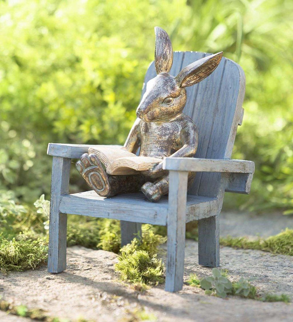 Reading Rabbit Garden Statue  The Green Head