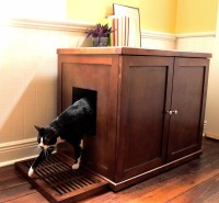 Refined Feline Wooden Litter Box Cabinet | The Green Head