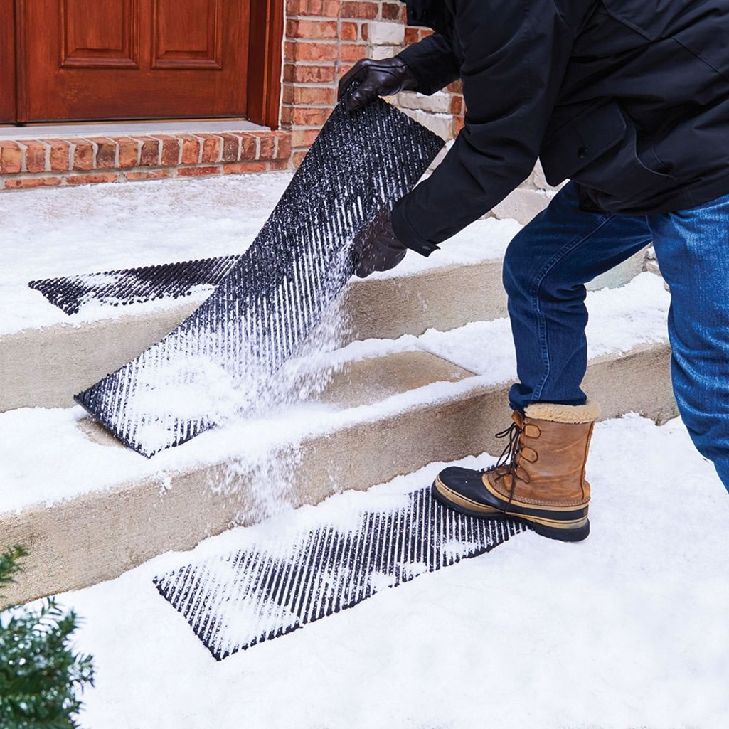 Secure Step Anti Slip Stair Treads   Outdoor Stair Treads For Ice And Snow   Heated   Mat   Cool Inventions   Non Slip Mats   Heattrak