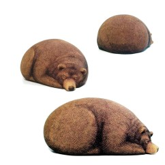Bear Bean Bag Chair Covers Norfolk Sleeping Grizzly And Cub Chairs