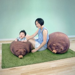 Bear Bean Bag Chair High Stokke Reviews Sleeping Grizzly And Cub Chairs