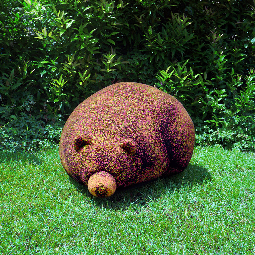 bear bean bag chair large bed sleeping grizzly and cub chairs