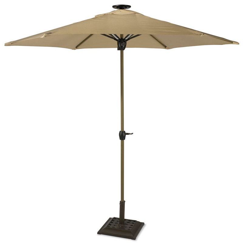 SolarPowered Lighted Patio Umbrella