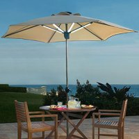 Solar Powered Patio Umbrella - Shade by Day and Light at ...