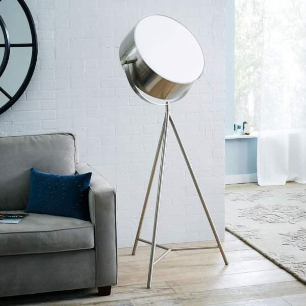 Spotlight Metal Tripod Floor Lamp - Green Head