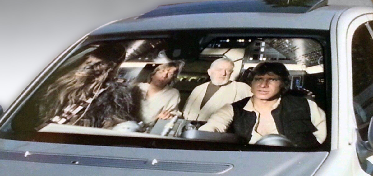 Star Wars Millennium Falcon Windshield Sun Shade