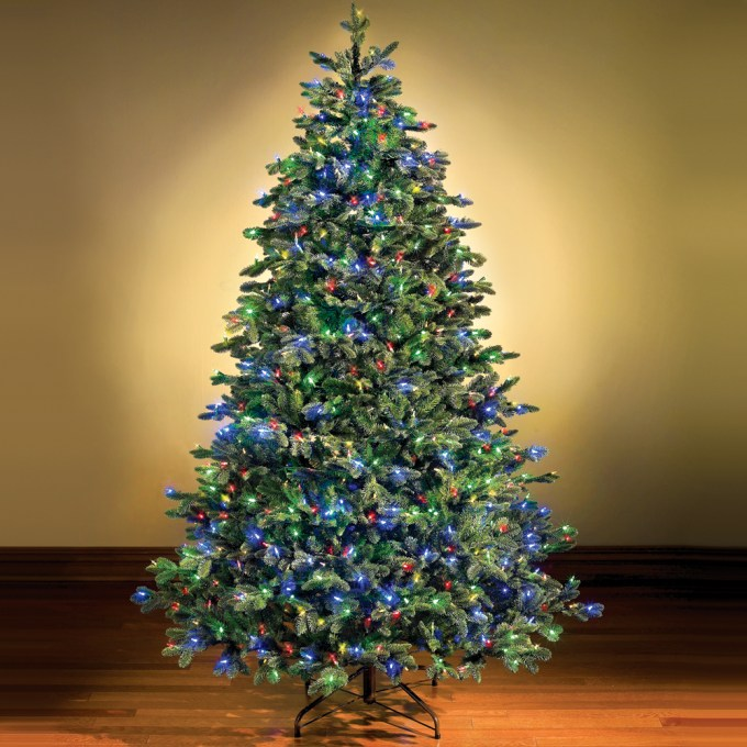 pre lit christmas tree with blue lights christmaswalls co - Christmas Tree With Blue Lights