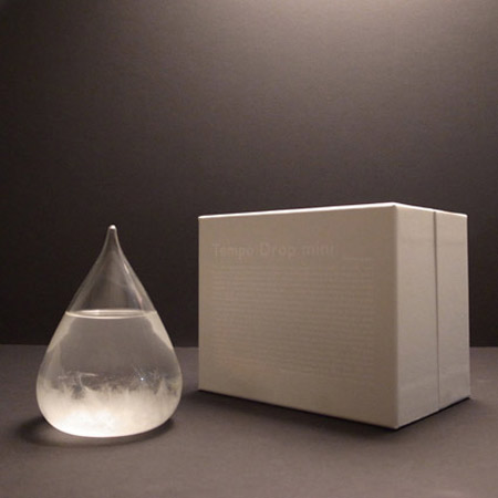 Tempo Drop  Sculptural Weather Forecasting Storm Glass