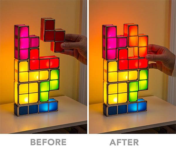 Tetris Stackable LED Desk Lamp  The Green Head