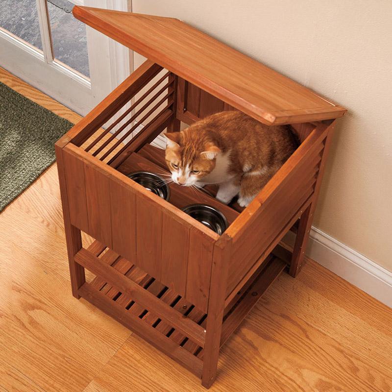 Tiered Cat Feeding Station