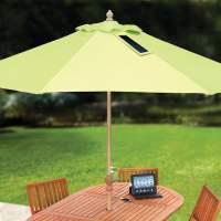 USB-Charging Solar Market Umbrella - The Green Head