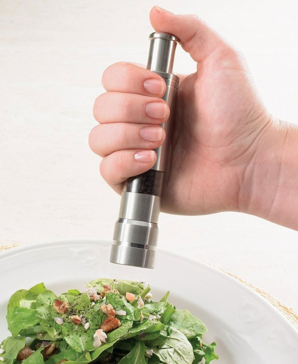 Handed Salt And Pepper Grinders - Green Head