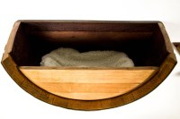 Wine Barrel Wall Hanging Cat Bed - The Green Head