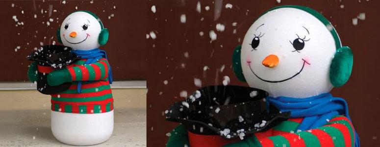 Amazing Snow Flurry Generating Snowman  The Green Head