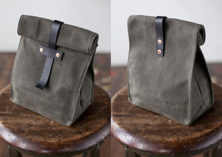 Artifact Waxed Canvas Lunch Tote  The Green Head