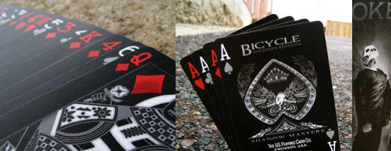 Bicycle Shadow Masters  Black Deck of Playing Cards