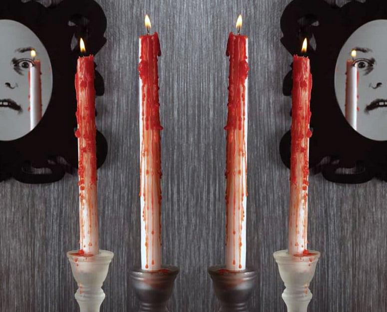 Bleeding Taper Candles  The Green Head