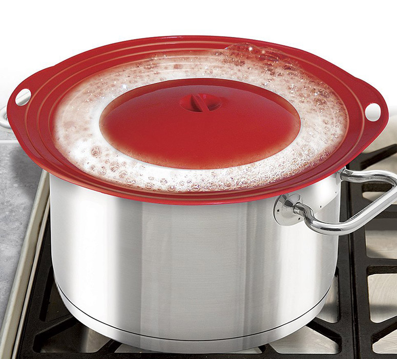 Boil Over Safeguard Silicone Pot Lid Prevents Messy