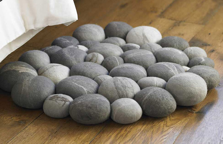 cool kitchen knives fluorescent lighting ideas clustered felted stone mat - the green head