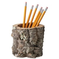 Cork Bark Pencil Holder / Desktop Receptacle - The Green Head