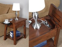Device Charging End Table - The Green Head