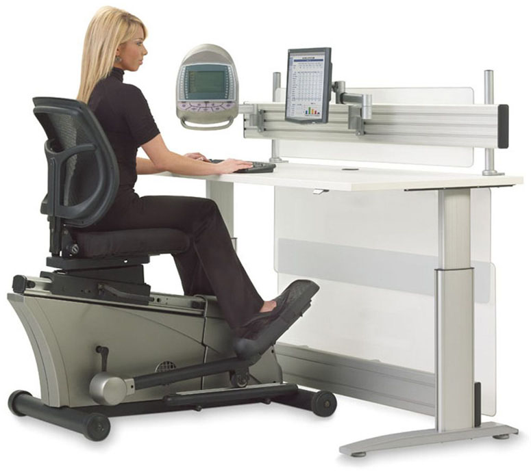 Elliptical Machine AdjustableHeight Desk  The Green Head