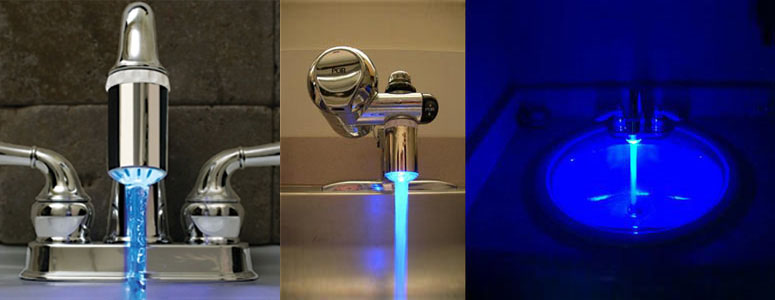 Faucet Light  Add Bright Blue Excitement To Your Water