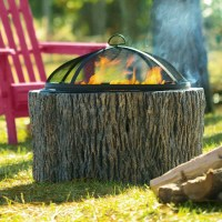 Faux Tree Stump Fire Pit - The Green Head