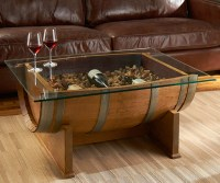 French Oak Wine Barrel Cocktail Table