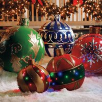Giant Outdoor Lighted Ornaments | The Green Head