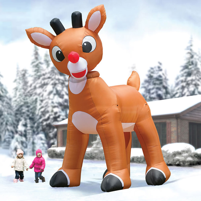 foot inflatable rudolph red nosed reindeer