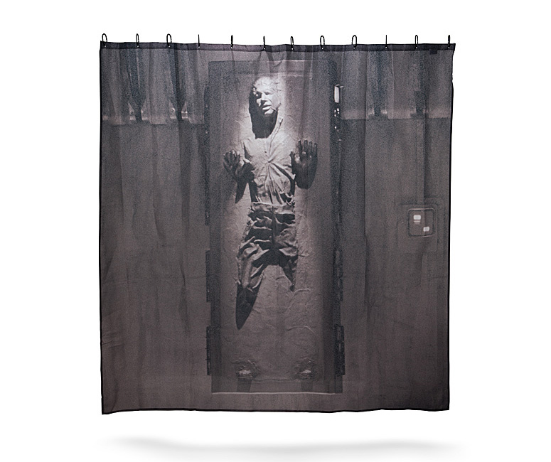 han solo frozen in carbonite shower curtain