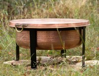 Handcrafted Copper Fire Pit / Grill / Table - The Green Head