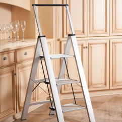 Kitchen Ladder White Wooden Chairs Folding Step Stool Polder Slim The Heavy Duty Slimline Green Head