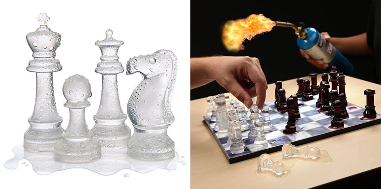 Ice Speed Chess Set  The Green Head